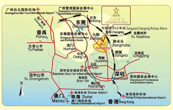 东莞酒店地图;
